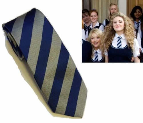 Blue Grey St Trinian's School Ties Film UK Fancy Dress Costume Party